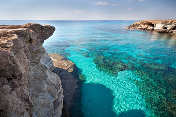 Cyprus sea caves