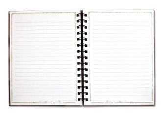Binder notebook isolated on white