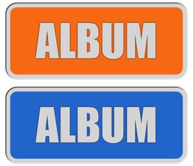 2 Sticker orange blau ALBUM