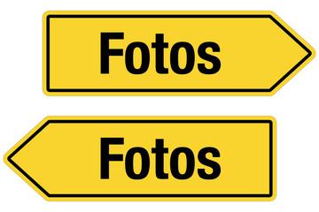 2 Pfeilschilder gelb FOTOS