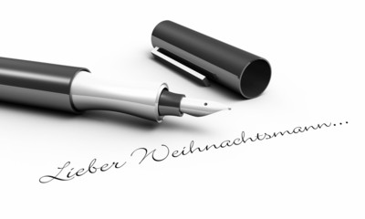 Lieber Weihnachtsmann - Stift Konzept
