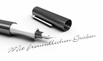 Mit freundlichen Grüßen - Stift Konzept