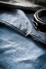 Men's jeans with belt