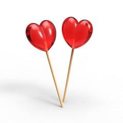 two lollipop in heart shape