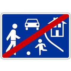 Papier Peint - Verkehrsschild - 325 Ende  verkehrsberuhigter Bereich