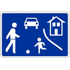 Papier Peint - Verkehrsschild - 325 Beginn verkehrsberuhigter Bereich