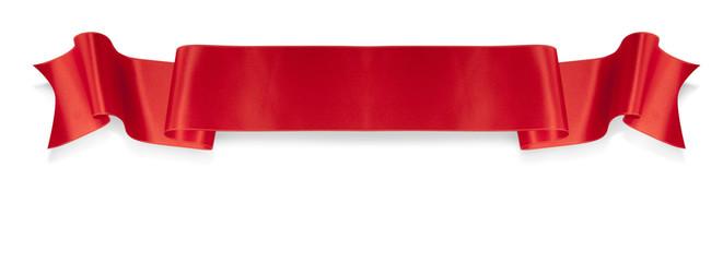 Elegance red ribbon banner