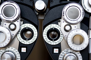 Detail of Optometrist diopter.