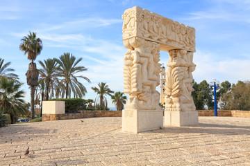 Faith stone sculpture