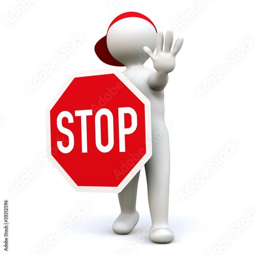 """""""3D Man Stop"""" Stockfotos und lizenzfreie Bilder auf ..."""
