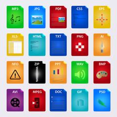 file icon vector set