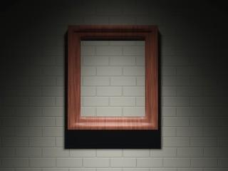 Frame on a brick wall