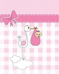 Anuncio nacimiento bebe niña