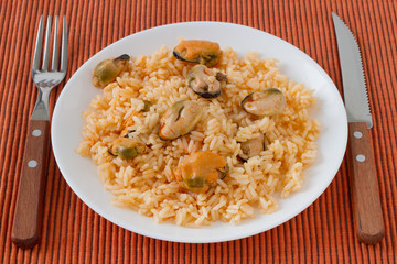 rice with mussels