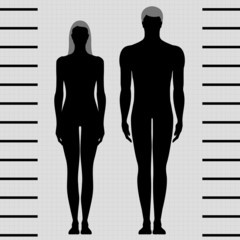 male and female body templates