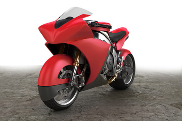Motorbike prototype red