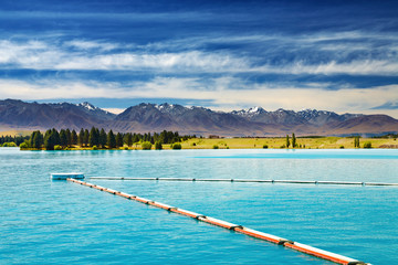 Fototapete - Ruataniwha Lake, New Zealand