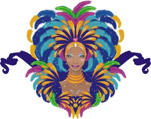 Beautiful carnival girl