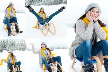 glücklich im winter