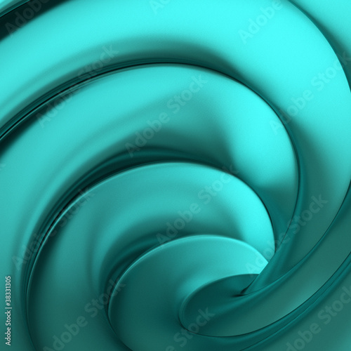 Wall mural Abstract twisted blue 3d background