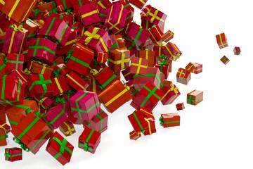 Viele Geschenke zu Weihnachten