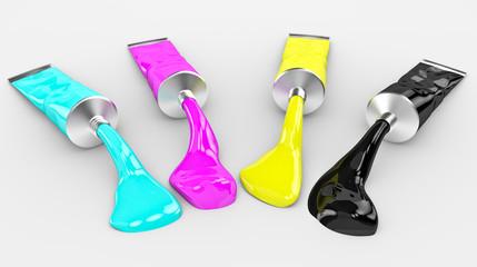 3D CMYK concept