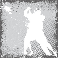 Grunge Dancing Couple Background