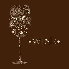 Abstract wine card