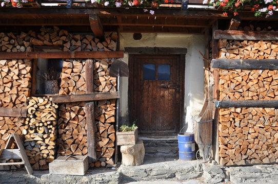 Façade de maison au hameau de Boudin