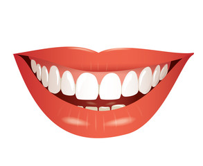 smiling mouth isolated photo-realistic vector