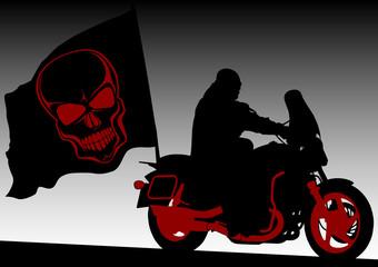 Keuken foto achterwand Motorfiets Black flag