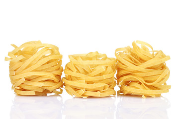 tasty noodles isolated on white