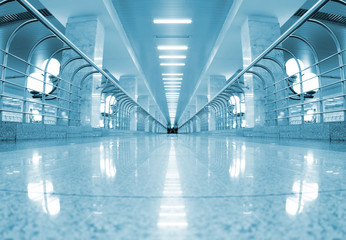 Metro station interior