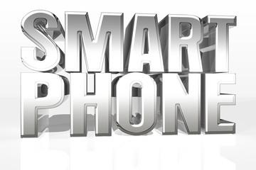 Smartphone 3D chrome