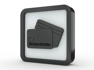 Button Kreditkarte schwarz