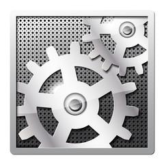 Metal gears vector icon