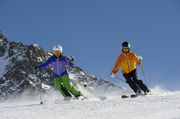 Skifahren wintersport