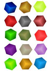 Cubi colorati 3D (vettoriale)