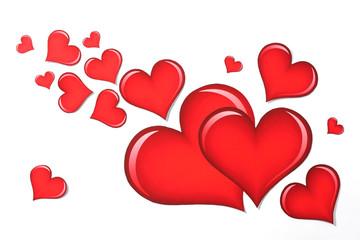 Valentine's heart on white