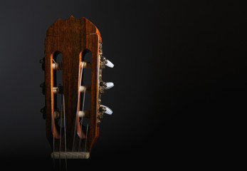 Head stock of an accoustic guitar