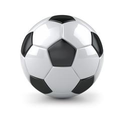 Glossy soccer ball