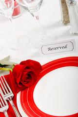 Romatic Restaurant Place Setting