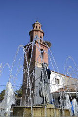 Cazalegas, Toledo, fuente é iglesia