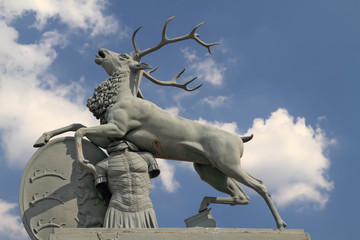 Deer statue at the New Palace,in Stuttgart Germany