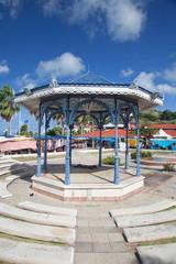 Kiosque de la place de Marigot à Saint Martin