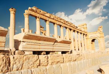 Ancient Roman time town in Palmyra, Syria.