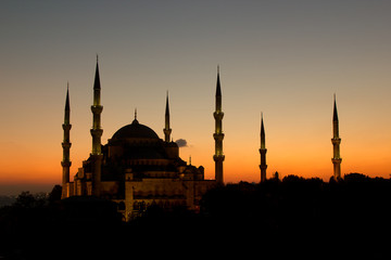 The Beatiful Blue Mosque in Istanbul, Turkey