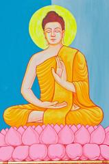 Image of buddha drawing on the wall