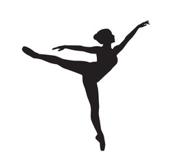 silhouette of a dancing girl