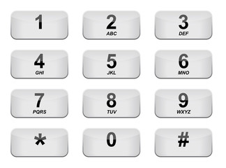 White Phone keyboard with Letters
